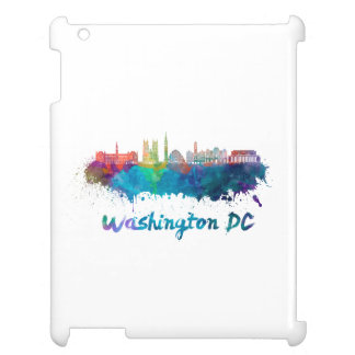 V2 Washington DC skyline in watercolor Case For The iPad 2 3 4
