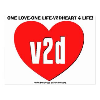 V2DHEART CUSTOM POSTCARD