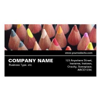 V3 intermedio 08 - lápices del color tarjetas de visita