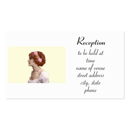 V67    Reception Information Card Business Card Templates