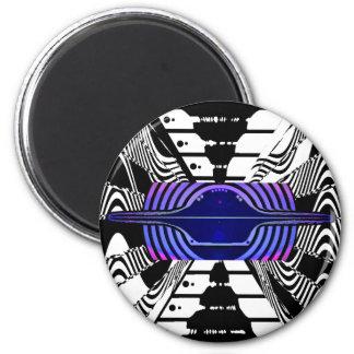 V7 Flying Saucer magNEAT-O 2 Inch Round Magnet