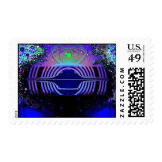 V7 Flying Saucer Postage Stamps