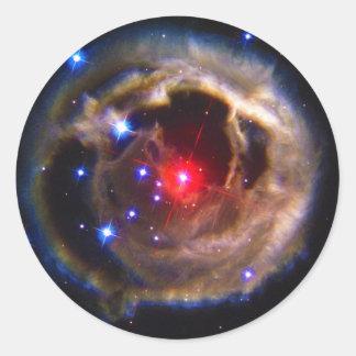 V838 Monocerotis Hubble Space Telescope Classic Round Sticker