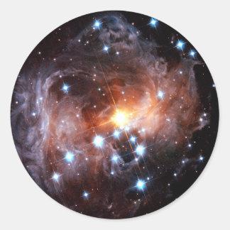V838 Monocerotis Pegatina Redonda
