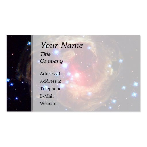 V838 Monocerotis Star (Hubble Telescope) Business Card