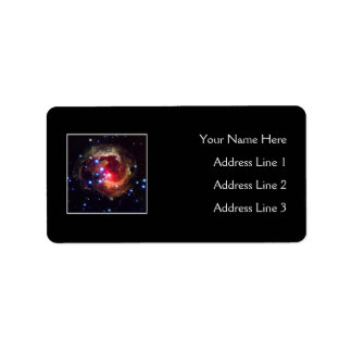 V838 Monocerotis Star (Hubble Telescope) Label