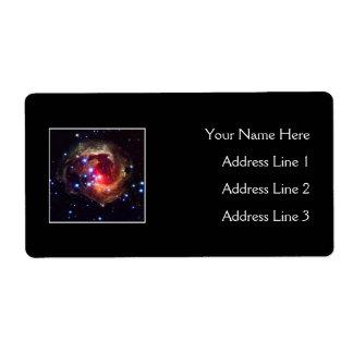 V838 Monocerotis Star (Hubble Telescope) Custom Shipping Labels