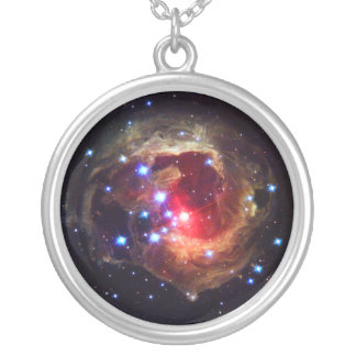 V838 Monocerotis Star (Hubble Telescope) Silver Plated Necklace