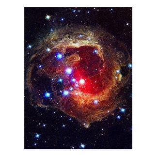 V838 Monocerotis star NASA Postcard