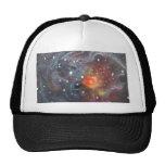V838 Monocerotis Star Original Space Art Painting Mesh Hats