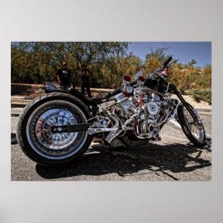 V8 Bike Poster