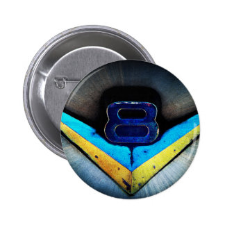 V8 Emblem Art 2 Inch Round Button