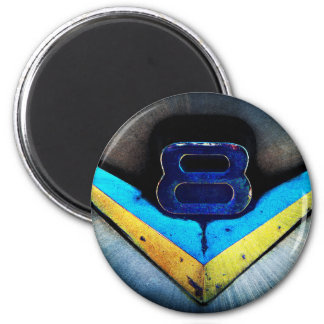 V8 Emblem Art 2 Inch Round Magnet
