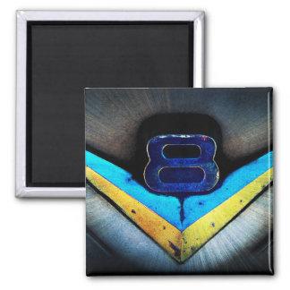 V8 Emblem Art 2 Inch Square Magnet