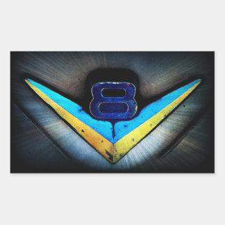 V8 Emblem Art Rectangular Sticker