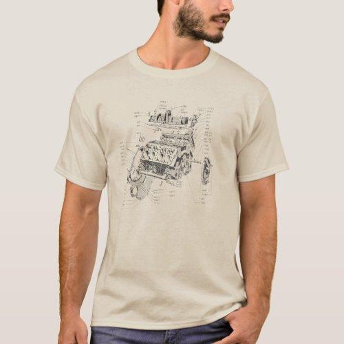 V8 engine T_Shirt