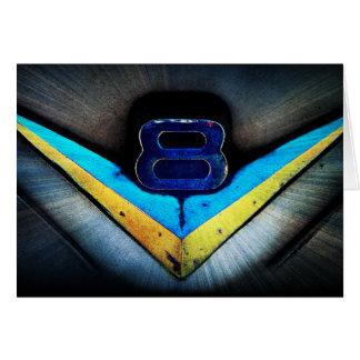V8 Hotrod Hood Emblem Card