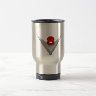 V8 logo travel mug