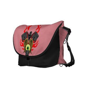 V8 Piston Heads Flying Eye Messenger Bag