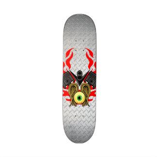 V8 Piston Heads Flying Eye Skateboard