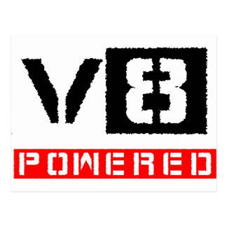 V8  powered postcard