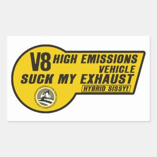 V8 SUV Sticker Yellow 4 pack