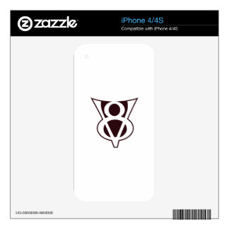 V8 Symbol Decal For The iPhone 4S