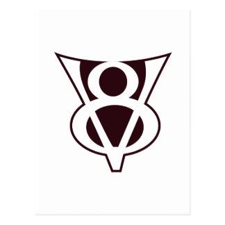 V8 Symbol Postcard