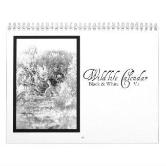 V.1 negro y blanco del calendario de la fauna -