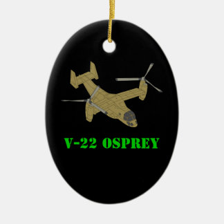 V-22 Osprey Plane Aircraft Art Design Ceramic Ornament