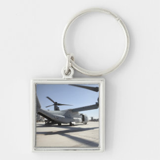 V-22 Osprey tiltrotor aircraft 2 Silver-Colored Square Keychain