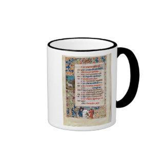 V.25-3 Fol.12v The Month of December Ringer Coffee Mug