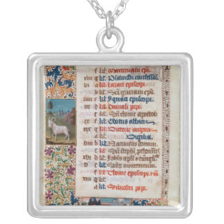 V.25-3 Fol.12v The Month of December Silver Plated Necklace