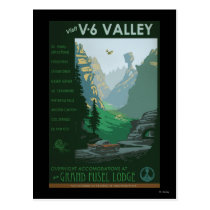 V-6 Valley Illustration Postcard