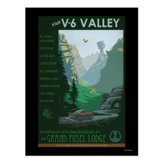 V-6 Valley Illustration Postcard