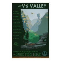 V-6 Valley Illustration Poster