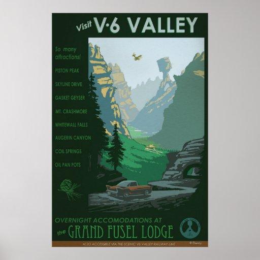 V-6 Valley Illustration Posters