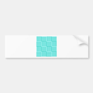 V and H Broad Stripes - Celeste and Turquoise Car Bumper Sticker