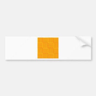 V and H Broad Stripes - Orange and Amber Car Bumper Sticker