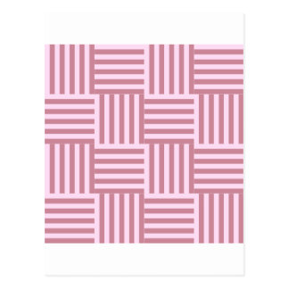 V and H Broad Stripes - Pink Lace and Puce Postcard