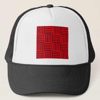 V and H Broad Stripes - Red and Dark Scarlet Trucker Hat