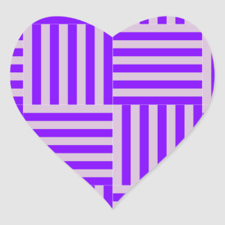 V and H Broad Stripes - Thistle and Violet Heart Sticker