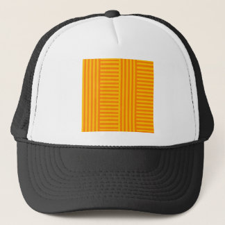 V and H Simple Broad Stripes - Orange and Amber Trucker Hat