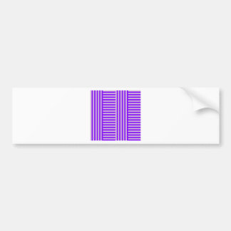 V and H Simple Broad Stripes - Thistle and Violet Car Bumper Sticker