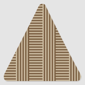 V and H Simple Stripes - Khaki and Dark Brown Triangle Sticker