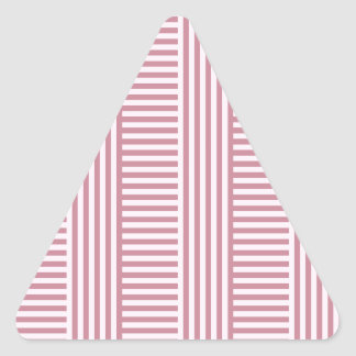 V and H Simple Stripes - Pink Lace and Puce Triangle Stickers
