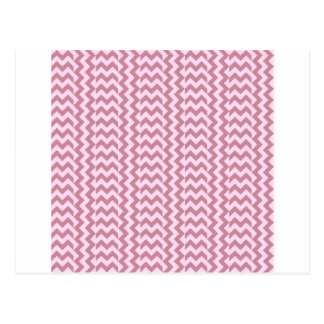 V and H Simple Wide Zigzag - Pink Lace and Puce Postcard