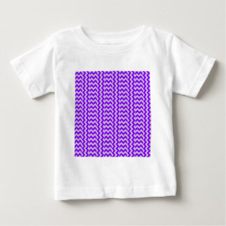 V and H Simple Wide Zigzag - Thistle and Violet Baby T-Shirt