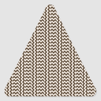 V and H Simple Zigzag - Almond and Cafe Noir Triangle Sticker