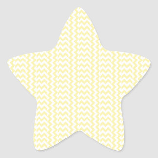 V and H Simple Zigzag - Light Yellow and Corn Star Sticker